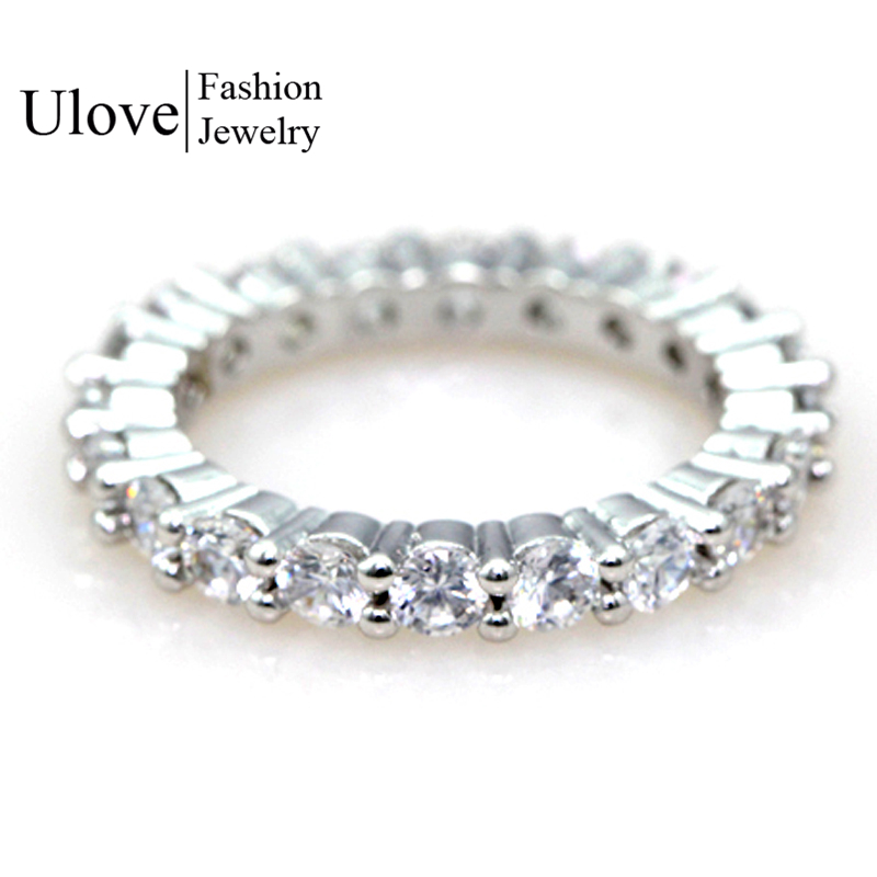 Eternity Wedding Band Full Simulated Diamonds Wedding ...