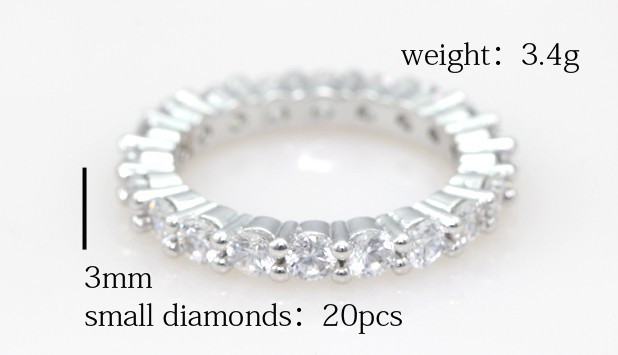 Eternity Wedding Band Full Simulated Diamonds Wedding Rings for
