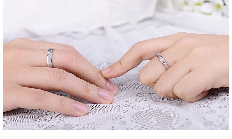 Fashion Men Women Jane Love 925 Sterling Silver Couple Rings Lovers