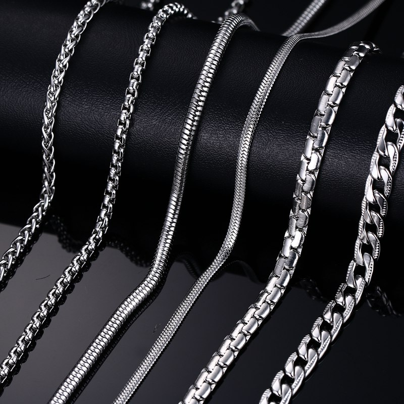 fashion silverampgold plated chain necklace for men women