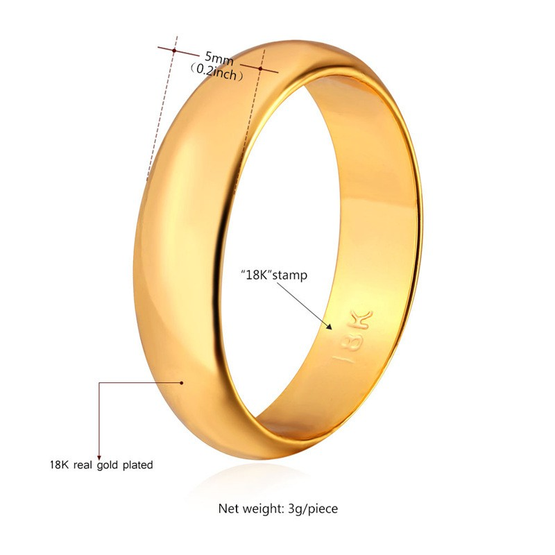 """Gold Rings For Women Men Jewelry Wholesale With """"18K"""" Stamp Real"""