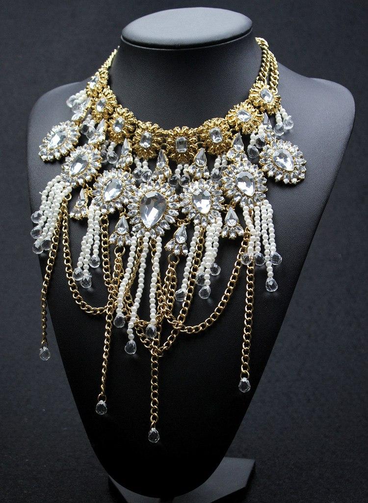 Hot Sale Newest Fashion Jewelry Pearl Gem Long Tassel ...