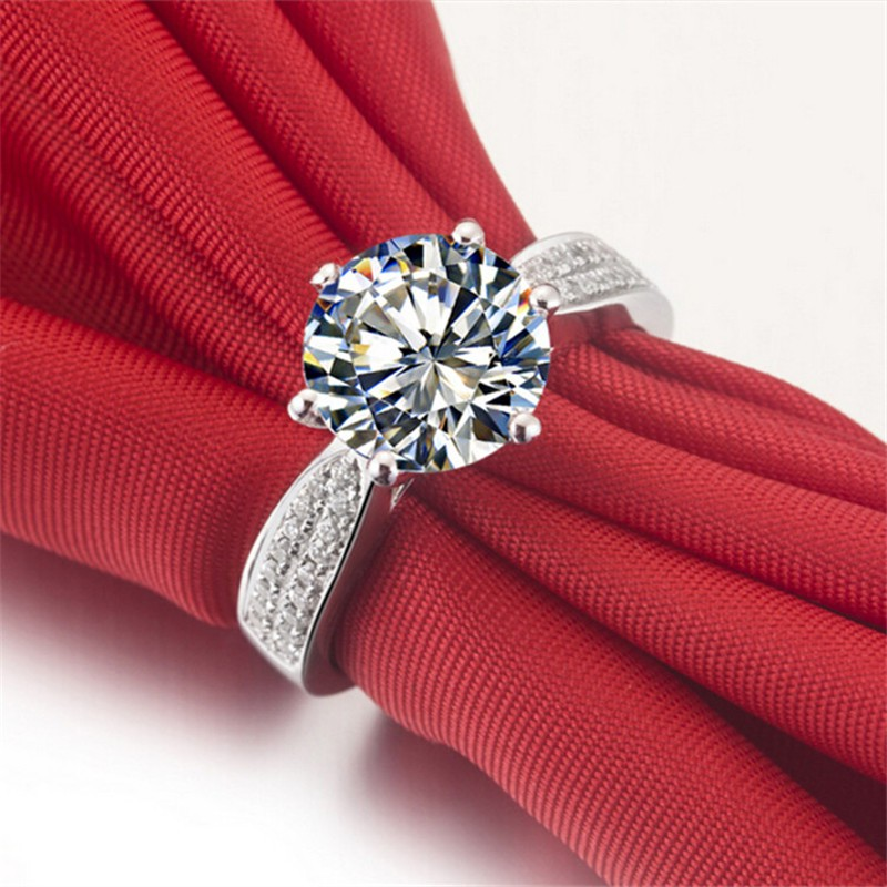 en rings style halo sterling silver pear engagement il synthetic hk listing diamond ring cut