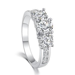 New hot Fashion Luxury High quality Plating 18K gold SWA Crystal CZ Diamond Ring Engagement jewelry