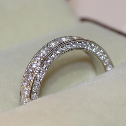 3.5mm Luxury quality 3 ctw NSCD synthetic diamond vintage Infinity ...
