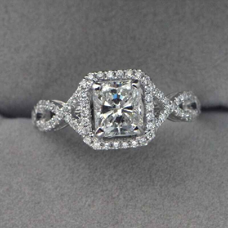 Victoria Wieck Antique Jewelry simulated diamond 925 Sterling